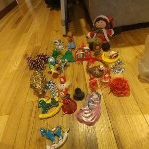 Vintage holiday ornaments decor bundle